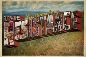 The Resistance love in postcard form